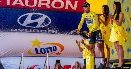 """Famózny Peter Sagan sa v závere 3. etapy Okolo Poľska """"vyšťavil"""" a je v žltom drese"""