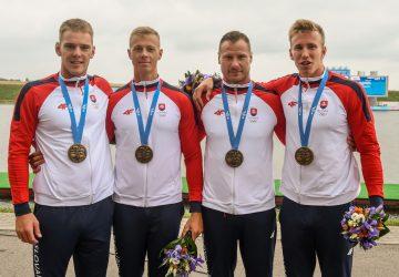 Slovenský štvorkajak na 500 m získal na EH v Minsku bronz